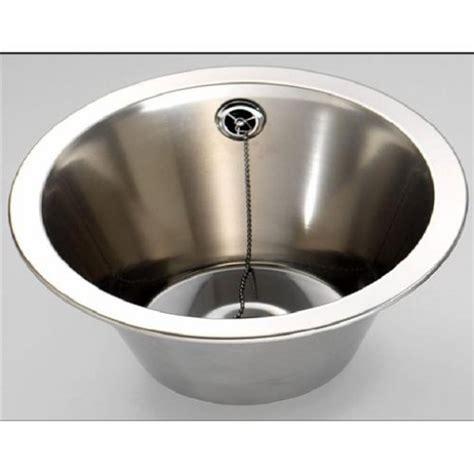 round stainless steel sink fitmykitchen fin260r round inset bowl 310mm diameter
