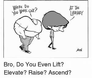WHERE Do You WORK OUT? AT THE LIBRARY Bro Do You Even Lift ...