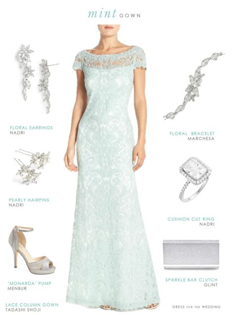 Mint Green Lace Gown   Pale Green Mother of the Bride Dress