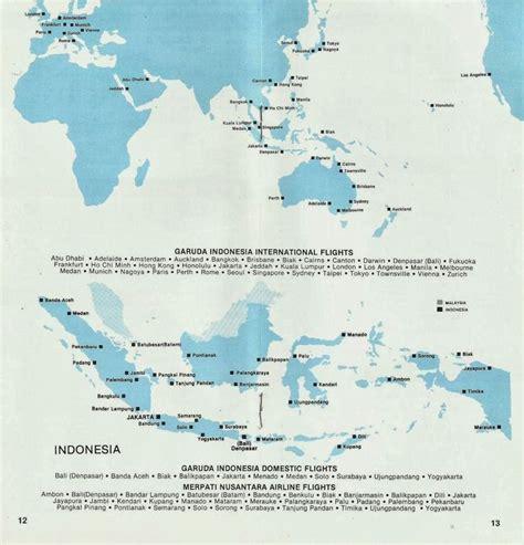 garuda indonesia route map luftfahrt kommerzielle