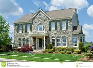 georgian style home plans faced single family house home suburban md stock