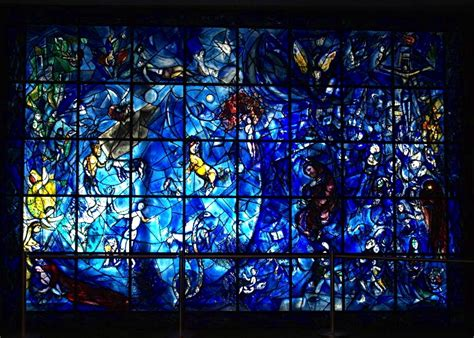 'peace' Blue Stained Glass By Marc Chagall