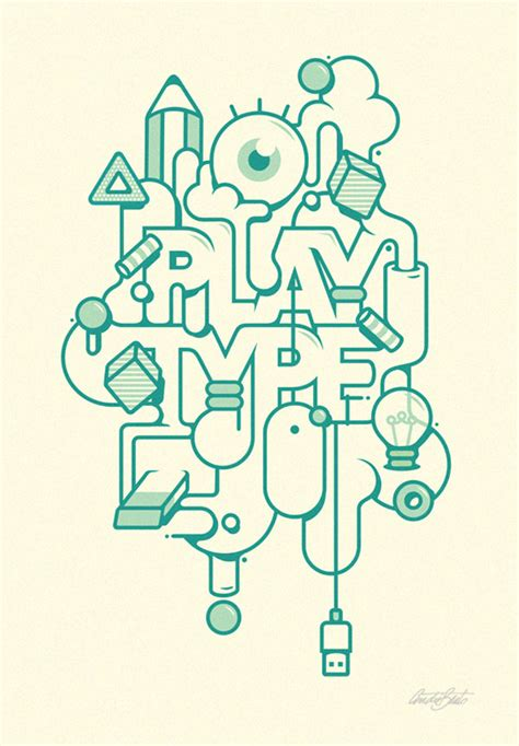 typographic artworks by andr 233 beato