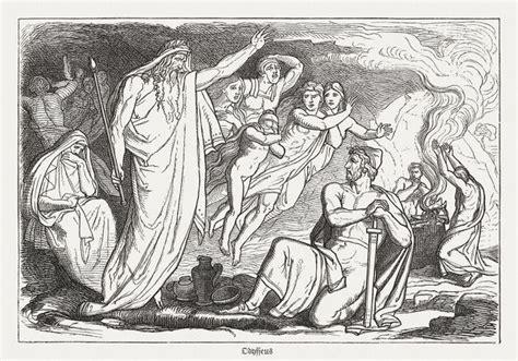 foto de Ulysses in Hades Greek mythology wood engraving