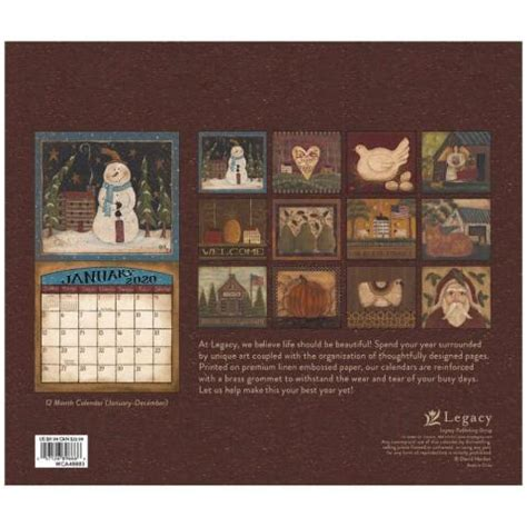 folk art david special edition wall calendar