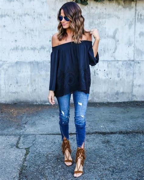 In Defense of Off-the-Shoulder Tops | Boho sandals Skinny jeans and Boho