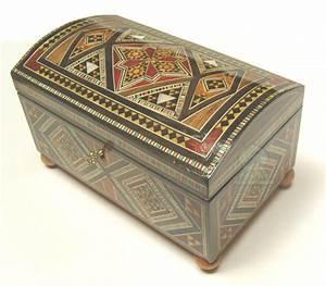 Coffre à Bijoux Bois : coffre bijoux syrien en bois marquette objet de ~ Premium-room.com Idées de Décoration