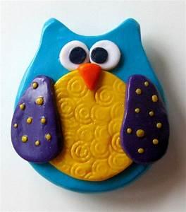 Owl Magnet Handmade Polymer Clay Kitchen Fridge Decoration