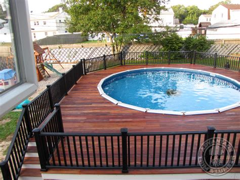 pool deck railing above ground pool with deck and railings traditional pool other metro by advantagelumber com