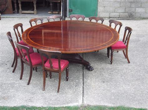 round dining table for 12 antique furniture warehouse huge round georgian table