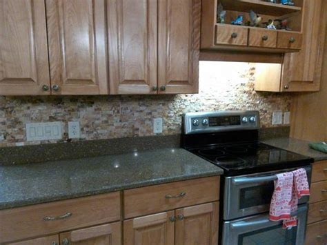 recessing outlet covers  stacked stone backsplash