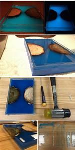 Table Resine Bois : table en r sine poxy phosphorescente et autres projets de bricolage cool ~ Teatrodelosmanantiales.com Idées de Décoration