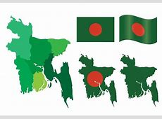 Bangladesh Map and Flag Vector Set Download Free Vector