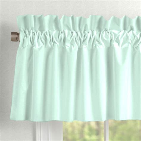 Mint Curtains For Nursery solid mint window valance rod pocket carousel designs