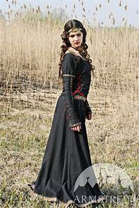 """Medieval Black Cotton Dress """"Lady Hunter"""". Available in ..."""