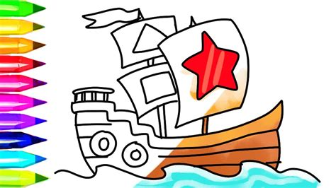 How To Draw A Pirate Boat by How To Draw Pirate Ship Coloring Pages And Boat Coloring