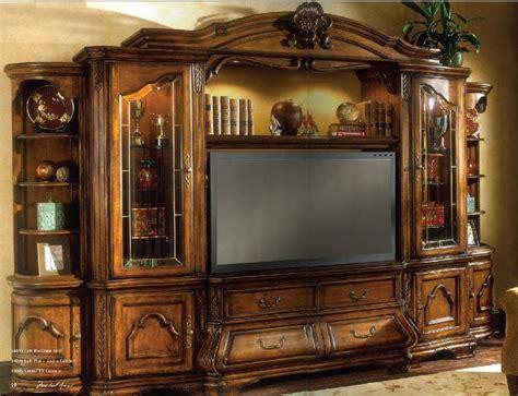 vintage entertainment center aico furniture tuscano 6 entertainment wall unit 3193
