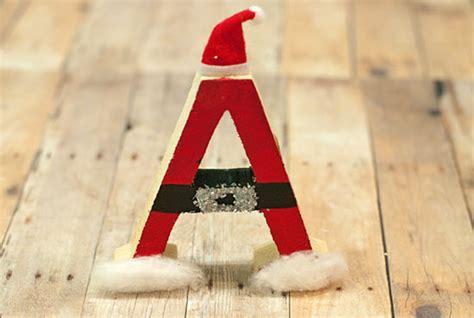 kid friendly diy santa wood letter ornament factory