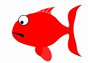 Red Sad Fish Clip Art at Clker.com - vector clip art ...