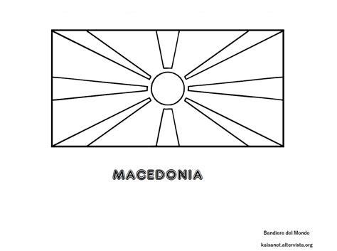Bandiera Macedonia da colorare