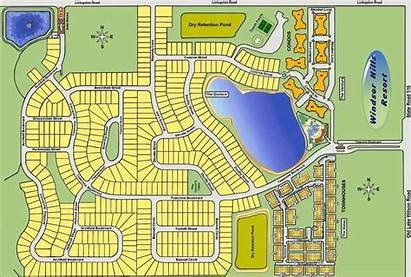 Map Windsor Community Hills Gated Resort Disney