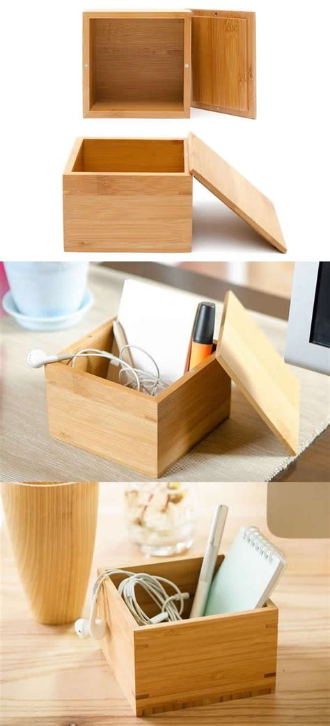 nature bamboo office desk organizer phone  pencil