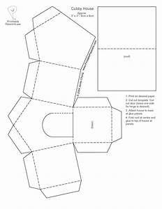 paper houses cutouts print the cubby house template out With paper house templates to print