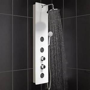Colonne De Douche Grohe : colonne de douche hydromassante avec robinetterie blanc ~ Dailycaller-alerts.com Idées de Décoration