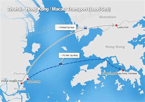 Ferry Zhuhai To Hong Kong transport and time by land sea from shenzhen guangzhou