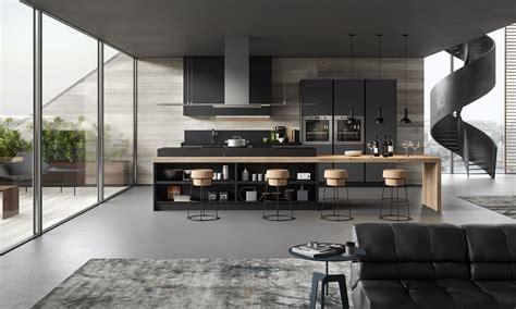 cuisiniste barentin cuisine moderne gris anthracite et bois avec îlot