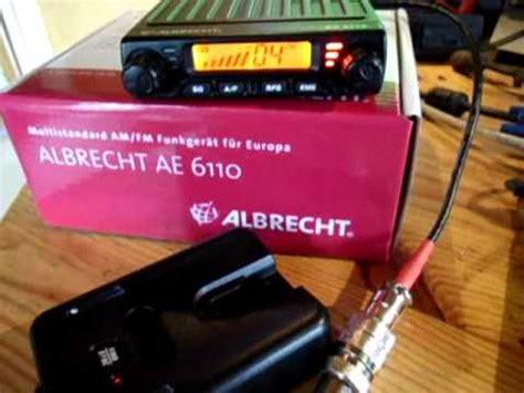 albrecht ae 6110 president liberty wireless mikrofon an einer albrecht ae 6110