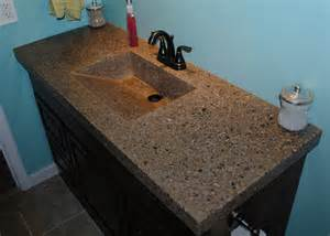 Integrated Sink And Countertop by Concrete Countertop With Integrated Sink And Fiber Optics