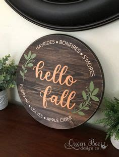 fall wood signwelcome wood signfall signfall
