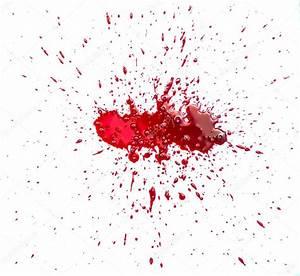 Tache De Sang : tache de sang clabouss sur fond blanc photographie ~ Melissatoandfro.com Idées de Décoration