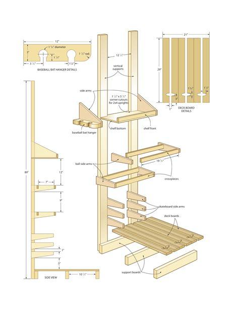 woodworking plans baseball bat rack plans  plans