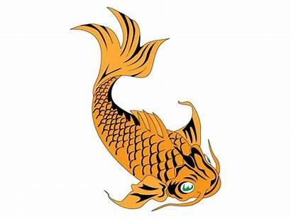 Fish Koi Clip Clipart Pond Cliparts Eating