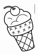 Drawing Ice Cream Coloring Colouring Clipartmag sketch template
