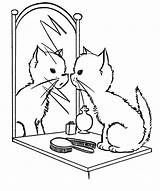 Mirror Coloring Pages sketch template