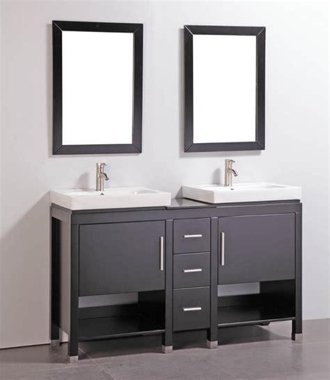 granite top 60 inch double sink bathroom vanity with