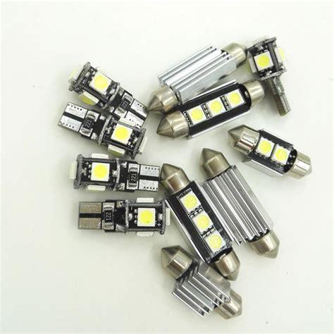 15pcs canbus car white led light bulbs interior package