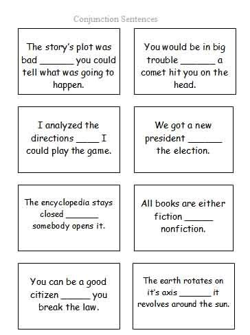 17 best images about conjunctions on simple
