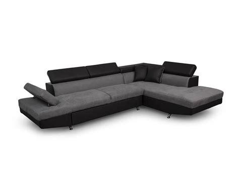 canapé d angle carré canapé d 39 angle droit convertible avec coffre noir gris