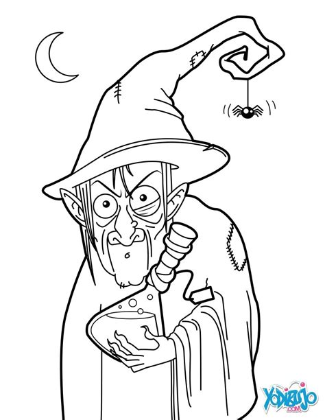 dibujos  colorear pocima de la bruja fea es