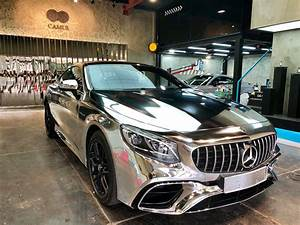 Mercedes S63 Amg : 2018 mercedes amg s63 coupe gets the silver surfer wrap in ~ Melissatoandfro.com Idées de Décoration