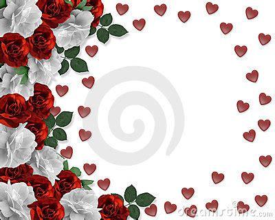 valentine red  white roses border royalty  stock
