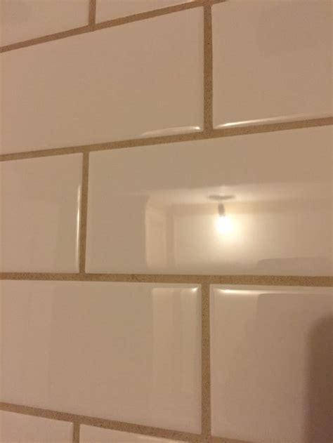 bathroom subway tile grout lines