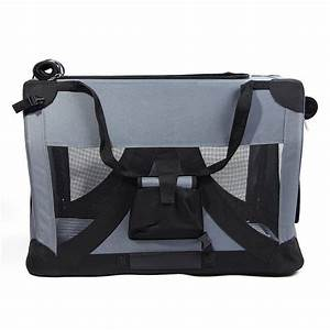 valentina valentti cat dog puppy pet folding canvas carrier With collapsible canvas dog crate
