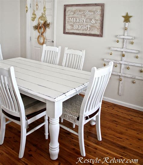 faux plank farmhouse table restyle relove