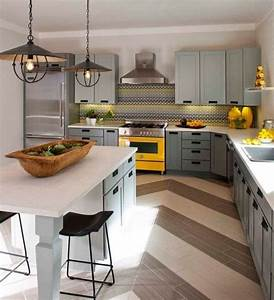 Küche Grau Holz : wohnideen f r die k che eklektisch grau gelb holz dekor ~ Michelbontemps.com Haus und Dekorationen