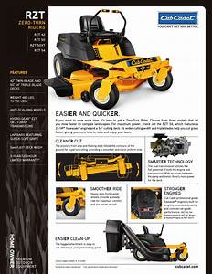 Cub Cadet Rzt 54 User Manual